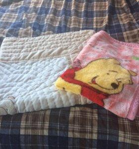 Плед для кроватки (розовый)