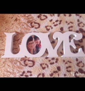 Фоторамка Love