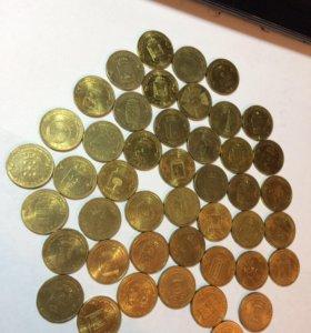 Юбилейные монеты 10 рубллей