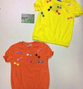 Детская футболка желтая 3,5,7