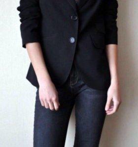 Черный пиджак xxl / 50 размер