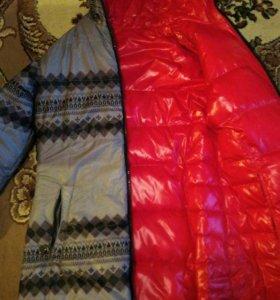 Куртка двухсторонняя зима. Натуральный пух.