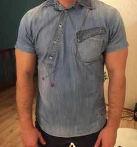 Джинсовая рубашка take-two