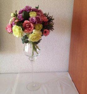 Топиарий ваза цветы