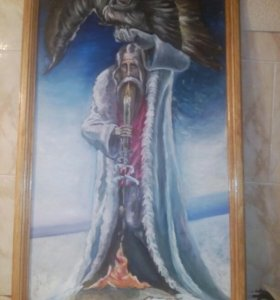КАРТИНА МАСЛОМ 84×52СМ , ДЕТСКАЯ РАБОТА(14 ЛЕТ)