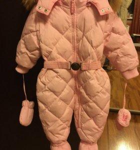 Детский комбинезон зимний для девочки BabyGo