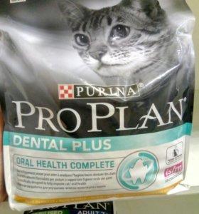 Pro Plan dental plus корм для кошек 3 кг