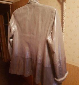 Куртка кожанная серая