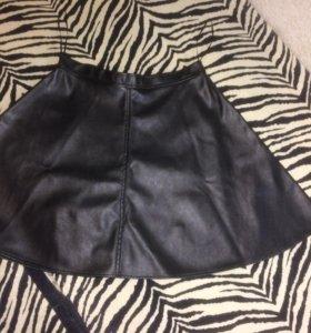 Продам платья и кожаную юбку