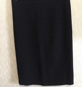 Классическая чёрная юбка карандаш