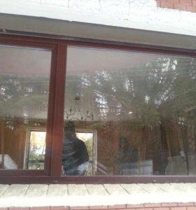 Окна пластиковые с рольставнями 2шт.