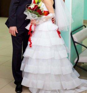 Свадебное платье + туфли