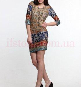 Платье-футляр в этно-стиле
