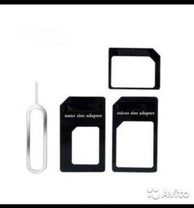 Переходники iPhone, адаптеры. Nano Micro Mini Sim