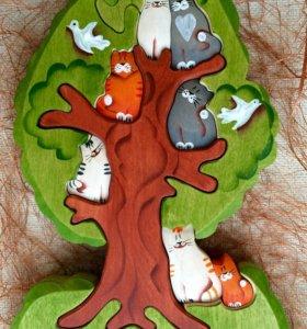 """Пазл """"Кошки на дереве""""."""