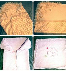 Детское одеялко-конверт