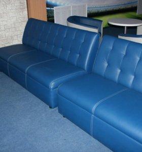 Стеганный диван новый в эко - коже