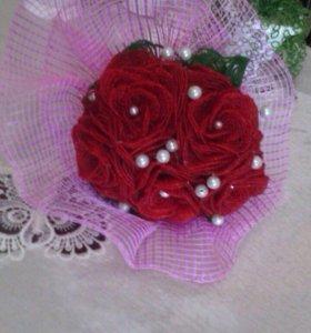 Цветы,картины из бисера на заказ
