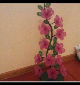Цветы картина из бисера на заказ