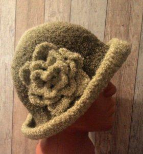 Шляпа женская вязаная