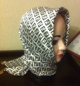 Новаый платок косынка двойной шелк атлас теплые