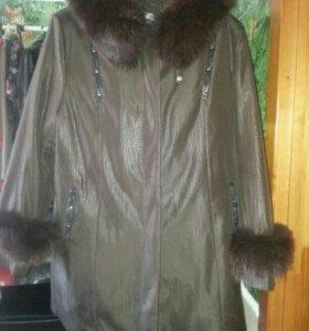 Пальто демисезонное 7ХL новое