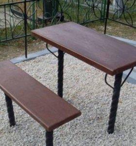 Лавочки и столы с доставкой и установкой