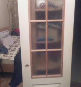 Дверь дерево/стекло 60х200