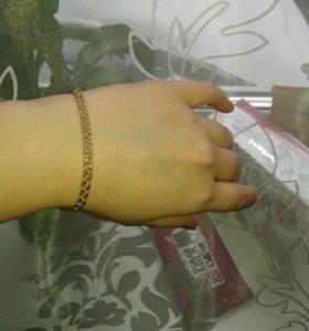 5,49 гр. женский золотой браслет
