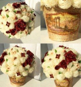Топиарий подарок цветы