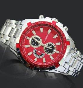 Мужские часы Curren red