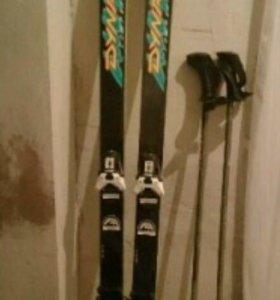 Горные лыжи dunastar 195см