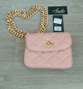 Новая сумочка в итальянском розовом цвете.