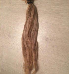 Волосы б/у, 50 см, более 100 прядей