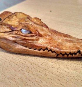 Сувенир. Голова крокодила,настоящая!