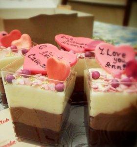 Домашние десерты: капкейки, тортики, пончики и
