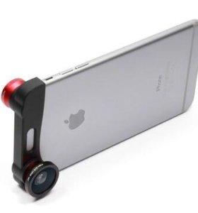 Объектив 3 в 1 для Apple iPhone 6/6s Fish eye/