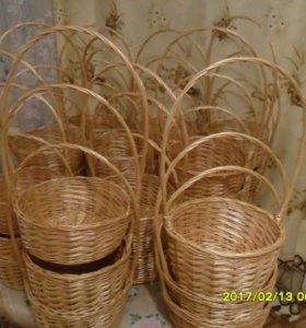 Плетёные корзины из ивы