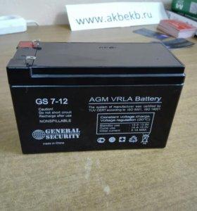 Аккумулятор gs 7-12