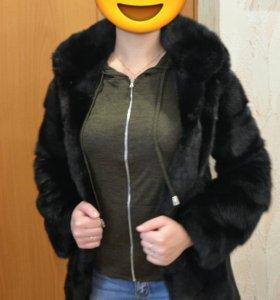 Норковая шуба черная пантера