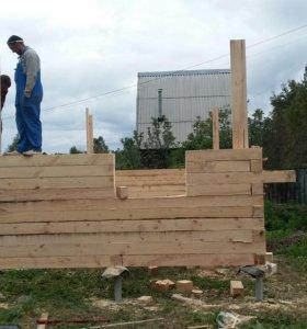 Строительство домов из бруса и кругляка.