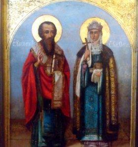 Икона Святая княгиня Ольга и князь Василий