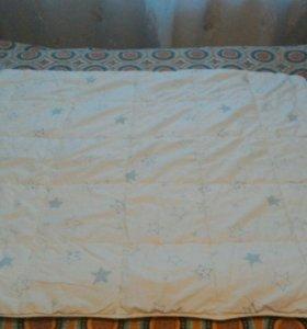 Детское одеяло Икеа в кроватку.
