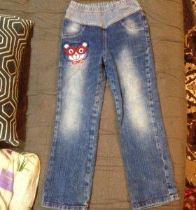 Джинсовые брюки на девочку