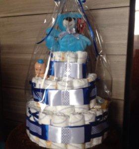 Тортик из памперсов!!🎀💞💞💞