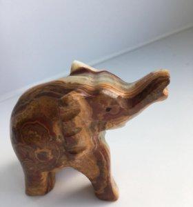 Фигурка слон из оникса 7 см