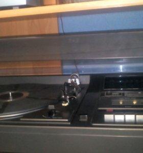 Винтаж музыкальный центр Sharp винил+ дека+радио F