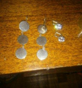 Серьги торг))) серебро с камнем продано!!!!