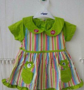 Комплект платье и шортики