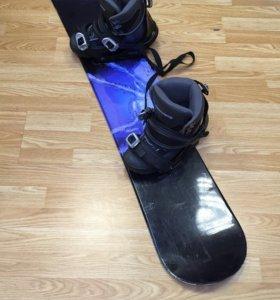 Сноуборд Summit warp с Ботинками warp и крепами